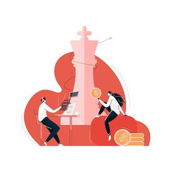 Stratégie de croissance d'entreprise, développement des affaires vers le succès et concept de croissance croissante