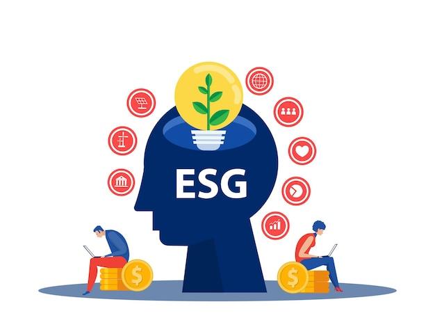 Stratégie de développement des personnes minuscule sensibilisation à l'esg en tant que gouvernance sociale environnementale