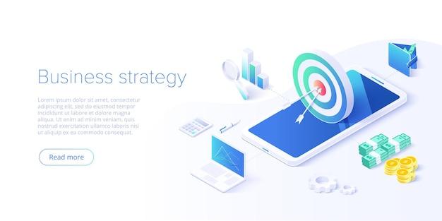Stratégie d'entreprise isométrique
