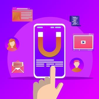 Stratégie de fidélisation de la clientèle, marketing entrant numérique et attraction de la clientèle