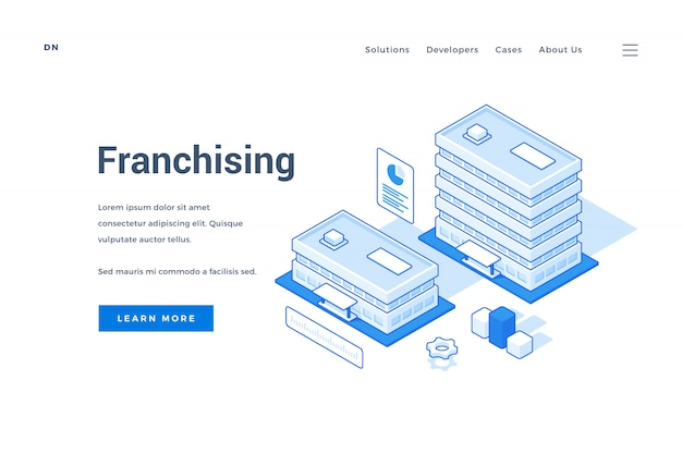 Stratégie de franchisage publicitaire de bannière web pour les entreprises