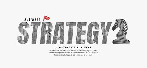 Stratégie gribouillis texte conception arrière-plan objectif commercial lettrage concept de typographie