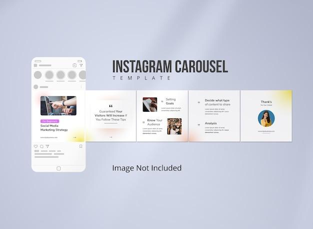 Stratégie marketing pour les médias sociaux instagram carousel post