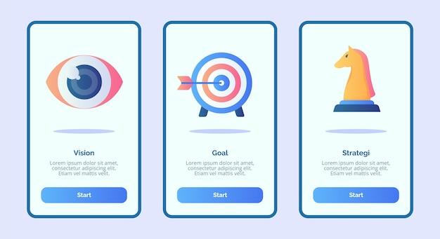 Stratégie d'objectif de vision