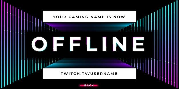 Streaming de bannière twitch hors ligne