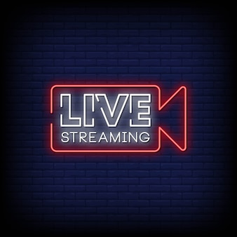 Streaming en direct neon singboard
