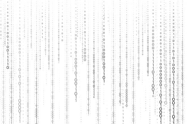 Streaming de fond de technologie de numéros de code binaire