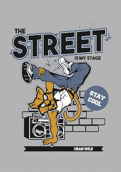 Street dance cat