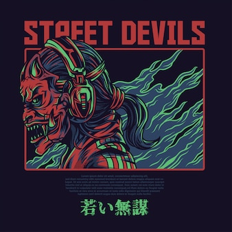 Street devils illustration