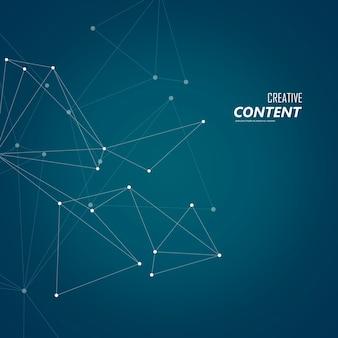Structure de connexion abstraite sur fond sombre avec points et lignes de connexion.