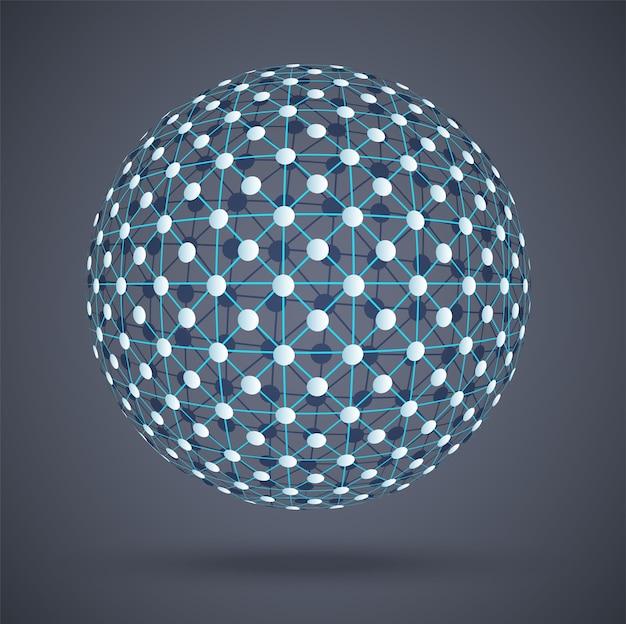 Structure du réseau connexions numériques mondiales