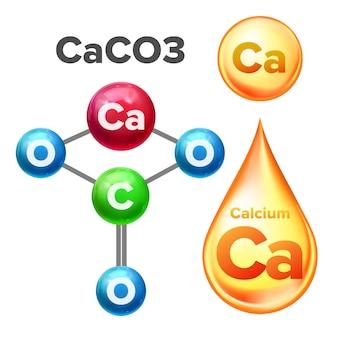 Structure moléculaire carbonate de calcium caco3