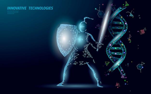 Structure de la molécule chimique d'adn de thérapie génique l.