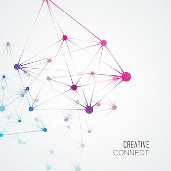 Structure de la molécule dynamique, fond de technologie abstraite