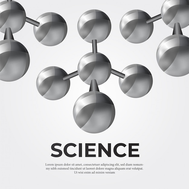 Structure de la molécule métallique pour la science