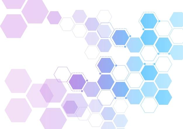 Structures moléculaires hexagonales abstraites