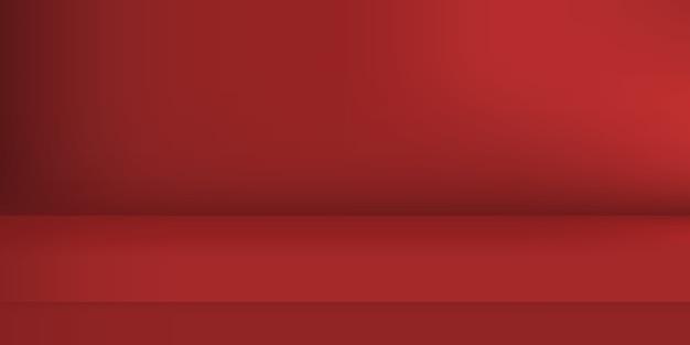 Studio de couleur rouge vide. arrière-plan de la pièce, affichage du produit avec espace de copie pour l'affichage de la conception du contenu. illustration.