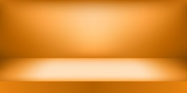Studio d'or vide. affichage du produit avec espace de copie pour l'affichage du contenu.