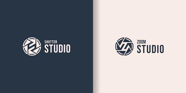 Studio de photographie de modèle de logo