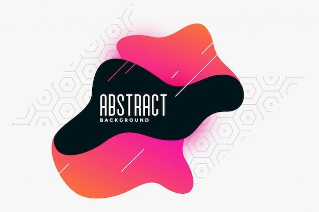 Style abstrait de couleur fluide style abstrait memphis