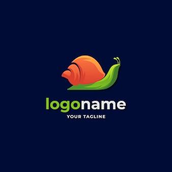 Style abstrait dégradé logo escargot pour entreprise