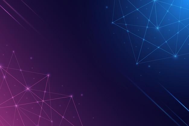 Style abstrait de fond de connexion réseau
