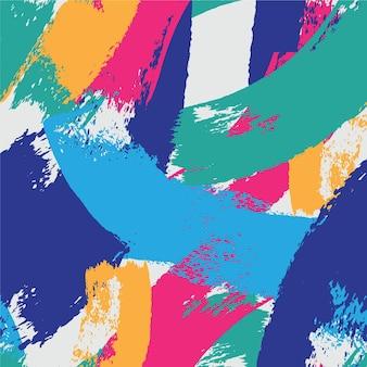 Style abstrait de motif de coup de pinceau
