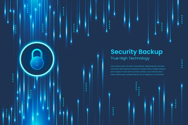 Style abstrait de technologie sécurisée