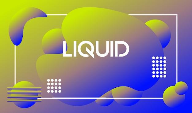 Style abstrait tendance fond liquide
