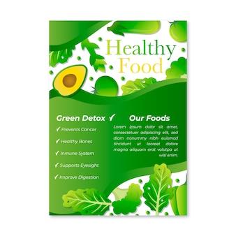 Style d'affiche des aliments sains