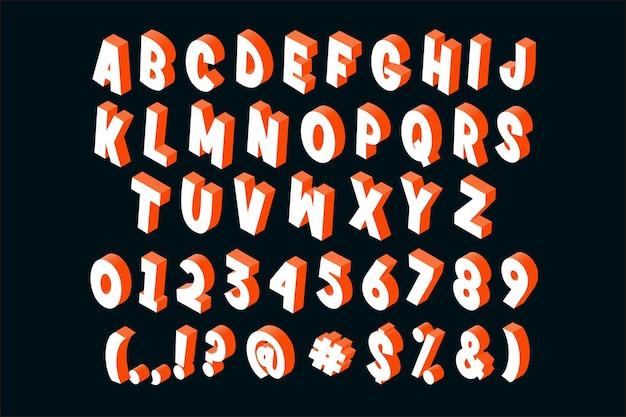 Style d'alphabet isométrique