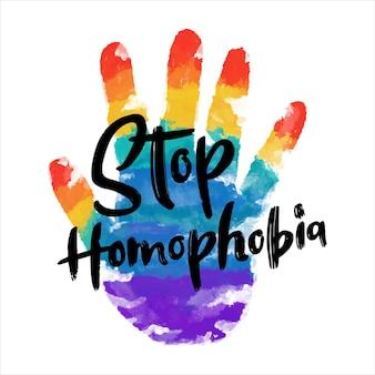 Style aquarelle arrêter l'homophobie