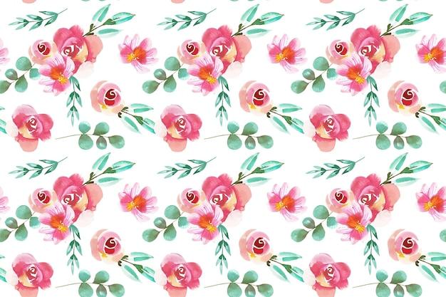 Style aquarelle motif floral