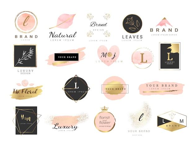 Style d'aquarelle pour le modèle de logo premium