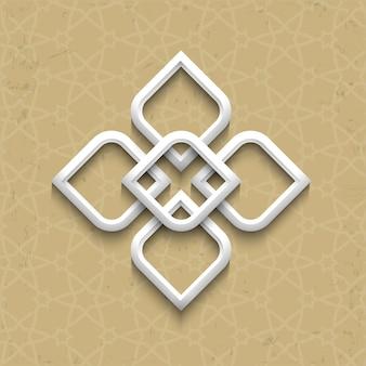 Style arabe 3d sur fond grunge