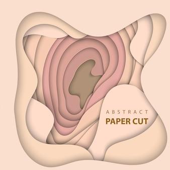 Style d'art abstrait papier 3d, mise en page de conception