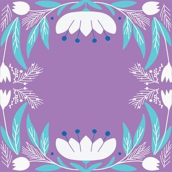 Style art déco de carte florale moderne