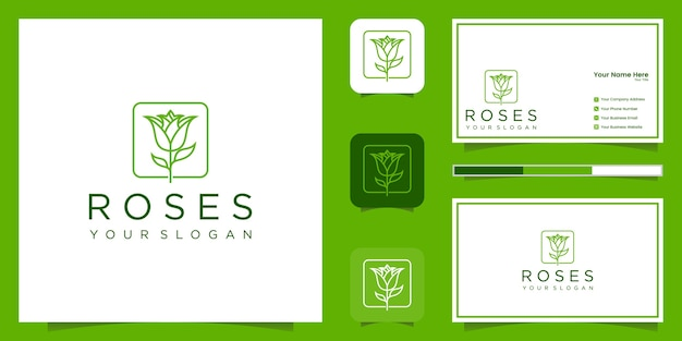 Style d'art minimaliste élégant fleur rose ligne. salon de beauté de luxe, produits de mode, cosmétiques, yoga et spa. création de logo et carte de visite