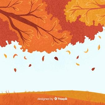 Style d'automne fond dessiné