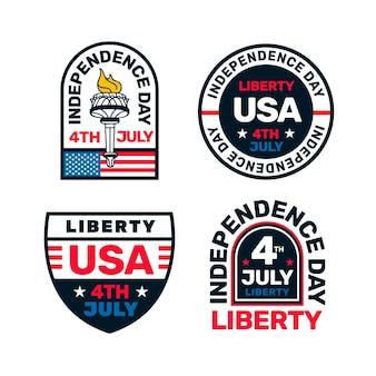 Style de badges de jour de l'indépendance