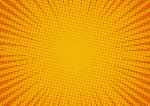 Style de bande dessinée abstrait fond jaune comique. lumière du soleil.