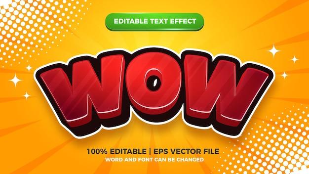 Style de bande dessinée comique effet de texte 3d modifiable wow