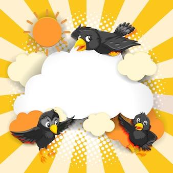 Style de bande dessinée comique fantaisie oiseau