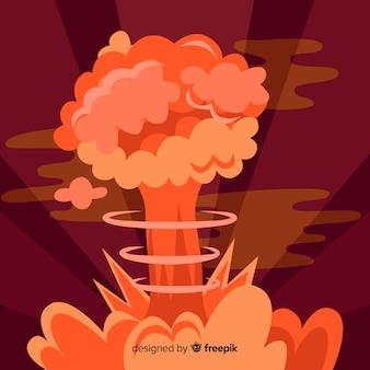 Style de bande dessinée effet d'explosion nucléaire