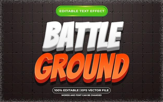 Style de bande dessinée et de jeu à effet de texte modifiable au sol de bataille