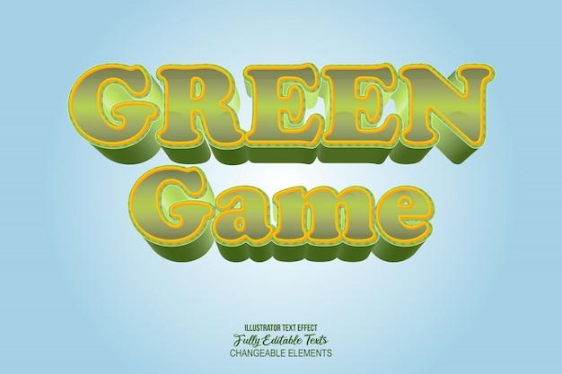 Style de bande dessinée de jeu vidéo d'effet de texte détaillé 3d