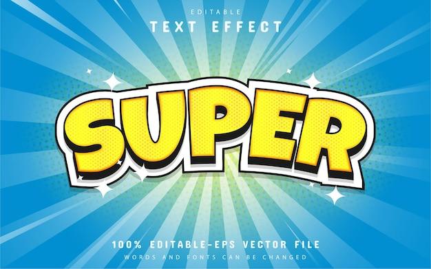 Style de bande dessinée super effet de texte