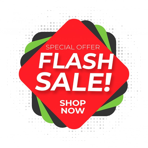 Style de bande dessinée de vente flash avec motif à pois