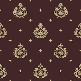Style baroque sans couture de modèle vintage avec élément abstrait. décor de fond et