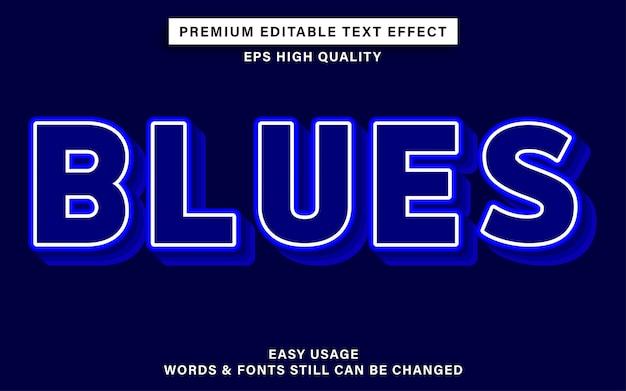 Style de blues d'effet de texte modifiable